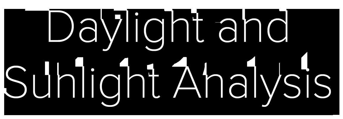 Daylight and Sunlight Analysis